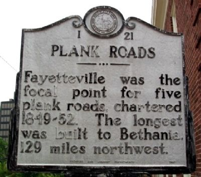 Plank Roads Marker image. Click for full size.