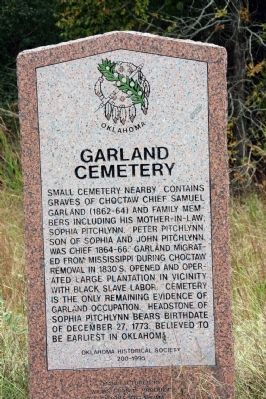 Garland Cemetery Marker image. Click for full size.
