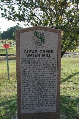 Clear Creek Water Mill Marker image. Click for full size.