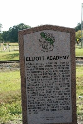 Elliott Academy Marker image. Click for full size.