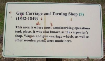 Gun Carriage and Turning Shop (1842 - 1849) Marker image. Click for full size.