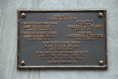 Memorial Plaque on Building image. Click for full size.
