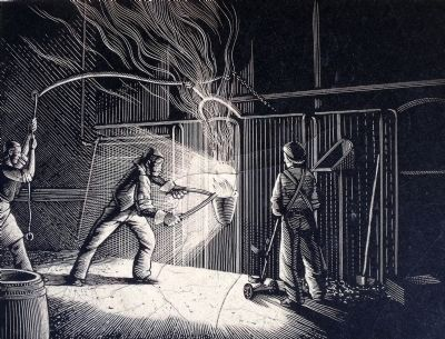 Antebellum Tredegar foundry workers image. Click for full size.