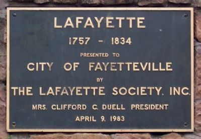Lafayette 1757 - 1834 Statue Marker image. Click for full size.