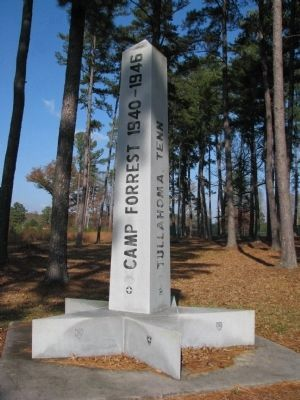 Camp Forrest Monument image. Click for full size.