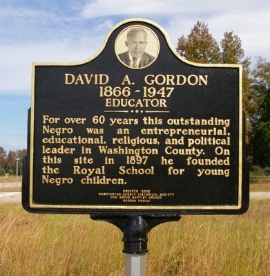 David A. Gordon Marker image. Click for full size.