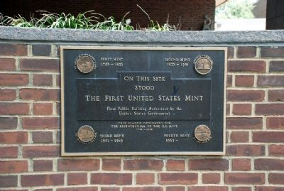 First United States Mint Marker image. Click for full size.