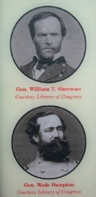 Photos of Sherman and Hampton on Marker image. Click for full size.