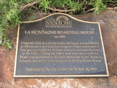 LaMontagne Boarding House Marker image. Click for full size.