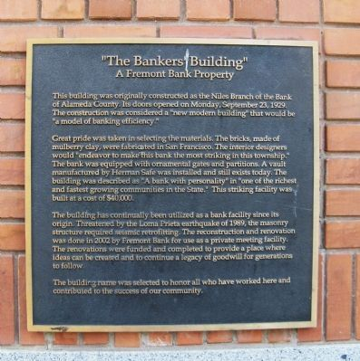 """The Bankers Building"" Marker image. Click for full size."