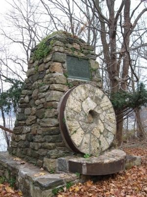 Reuben Wright's Mills Marker and Millstones image. Click for full size.