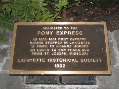 Dedicated to the Pony Express Marker image. Click for full size.