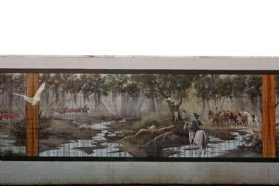 Battle of Wyboo Swamp Mural center panel image. Click for full size.