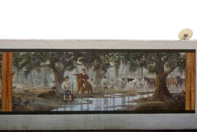 Battle of Wyboo Swamp Mural right panel image. Click for full size.