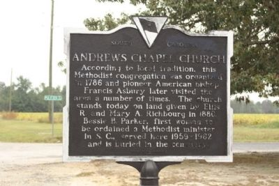 Andrews Chapel Church Marker image. Click for full size.