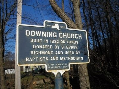 Downing Church Marker image. Click for full size.