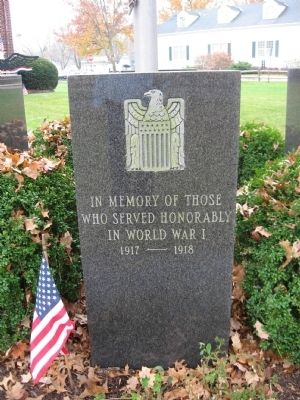 World War I Memorial image. Click for full size.