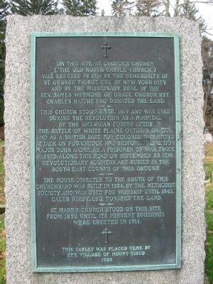 The Old North Castle Church Marker image. Click for full size.