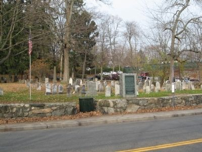 The Old North Castle Church Marker and Burial Ground image. Click for full size.