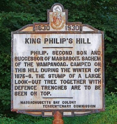 King Philip Hill Marker image. Click for full size.