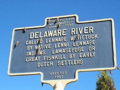 Delaware River Marker image. Click for full size.