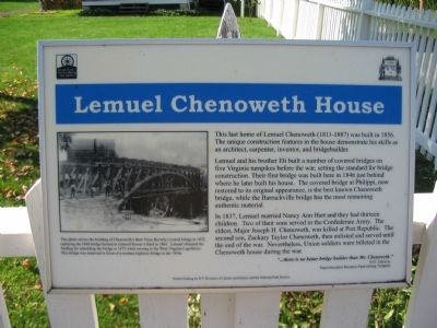 Lemuel Chenoweth House Marker image. Click for full size.