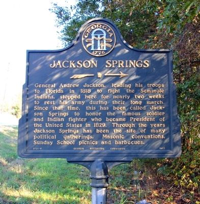 Jackson Springs Marker image. Click for full size.