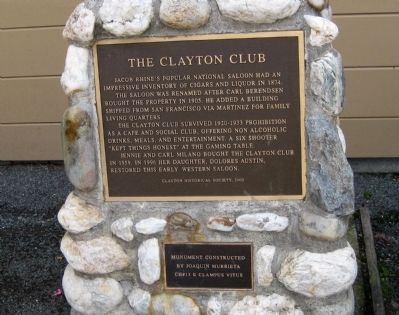 The Clayton Club Marker image. Click for full size.