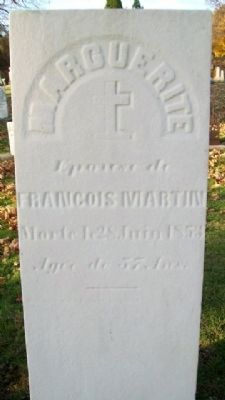 Marguerite Martin Grave Marker in French image. Click for full size.