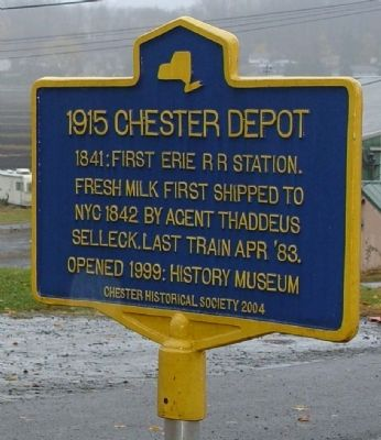 1915 Chester Depot Marker image. Click for full size.
