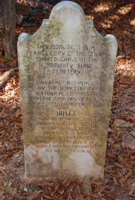 Grave marker of Bratton family slave image. Click for full size.
