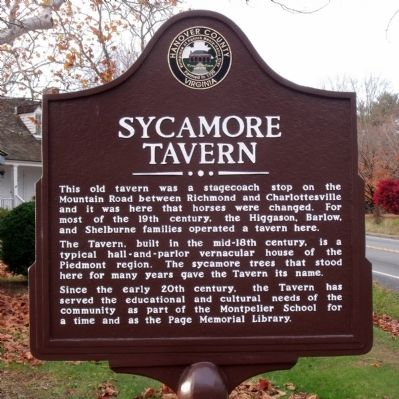 Sycamore Tavern Marker image. Click for full size.