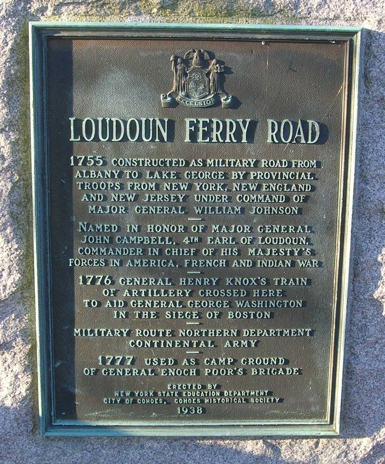 Loudoun Ferry Road Marker
