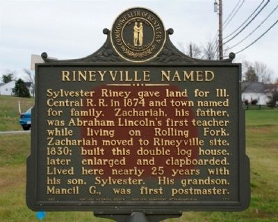 Rineyville Named Marker image. Click for full size.