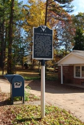 Town of Smyrna Marker image. Click for full size.