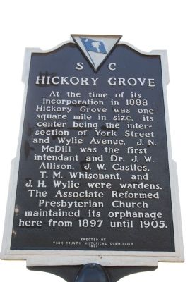 Hickory Grove Marker image. Click for full size.