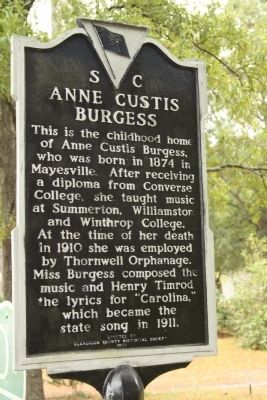 Anne Custis Burgess Marker image. Click for full size.