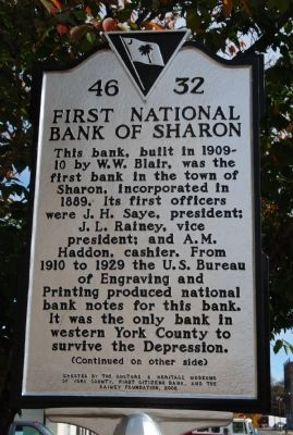 First National Bank of Sharon Marker image. Click for full size.