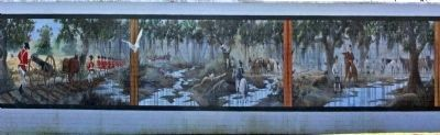 Revolutionary Skirmish Near Wyboo Swamp Mural at the IGA in Manning image. Click for full size.