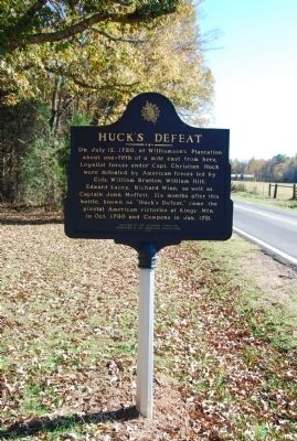 Huck's Defeat Marker image. Click for full size.