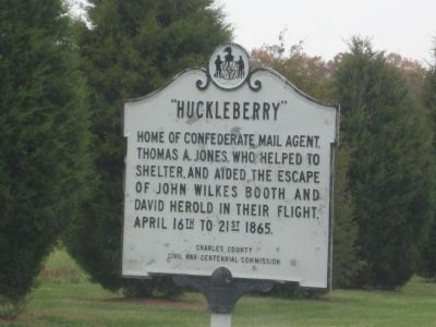 """Huckleberry"" Marker image. Click for full size."