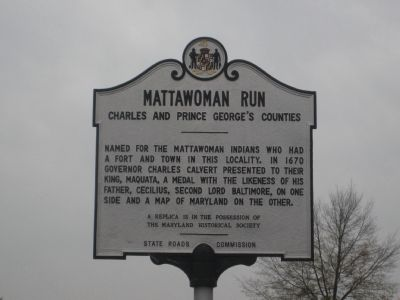 Mattawoman Run Marker image. Click for full size.