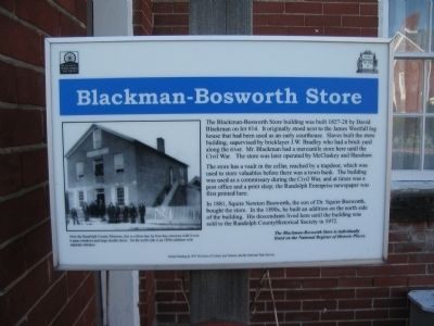 Blackman-Bosworth Store Marker image. Click for full size.