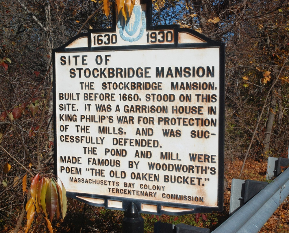 Site of Stockbridge Mansion Marker
