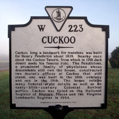 Cuckoo Marker image. Click for full size.