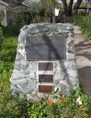 Joaquin Murrieta Marker and Rededication Plaques image. Click for full size.