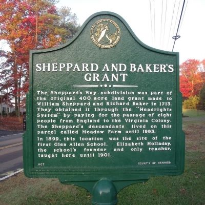 Sheppard and Baker's Grant Marker image. Click for full size.