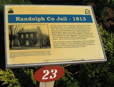 Randolph Co Jail - 1813 Marker image. Click for full size.