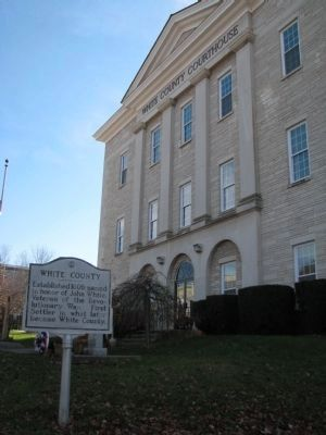 White County Courthouse and the marker image. Click for full size.