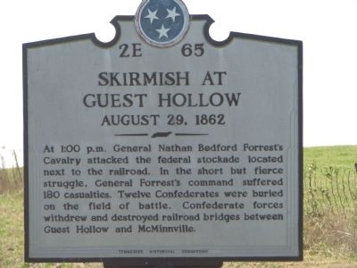 Skirmish at Guest Hollow Marker image. Click for full size.